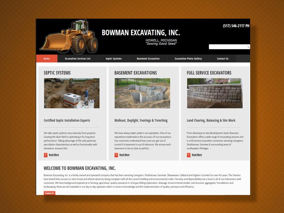 Bowman Excavating Howel MI 2015