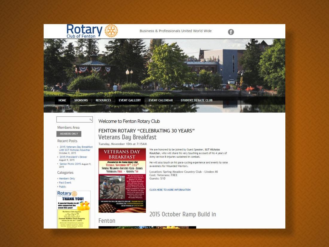 Fenton Rotary Club 2015