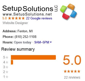 5 Star Google Reviews for Setup Solutions LLC Fenton