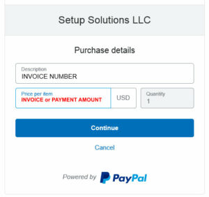 PayPal payment process Step 2