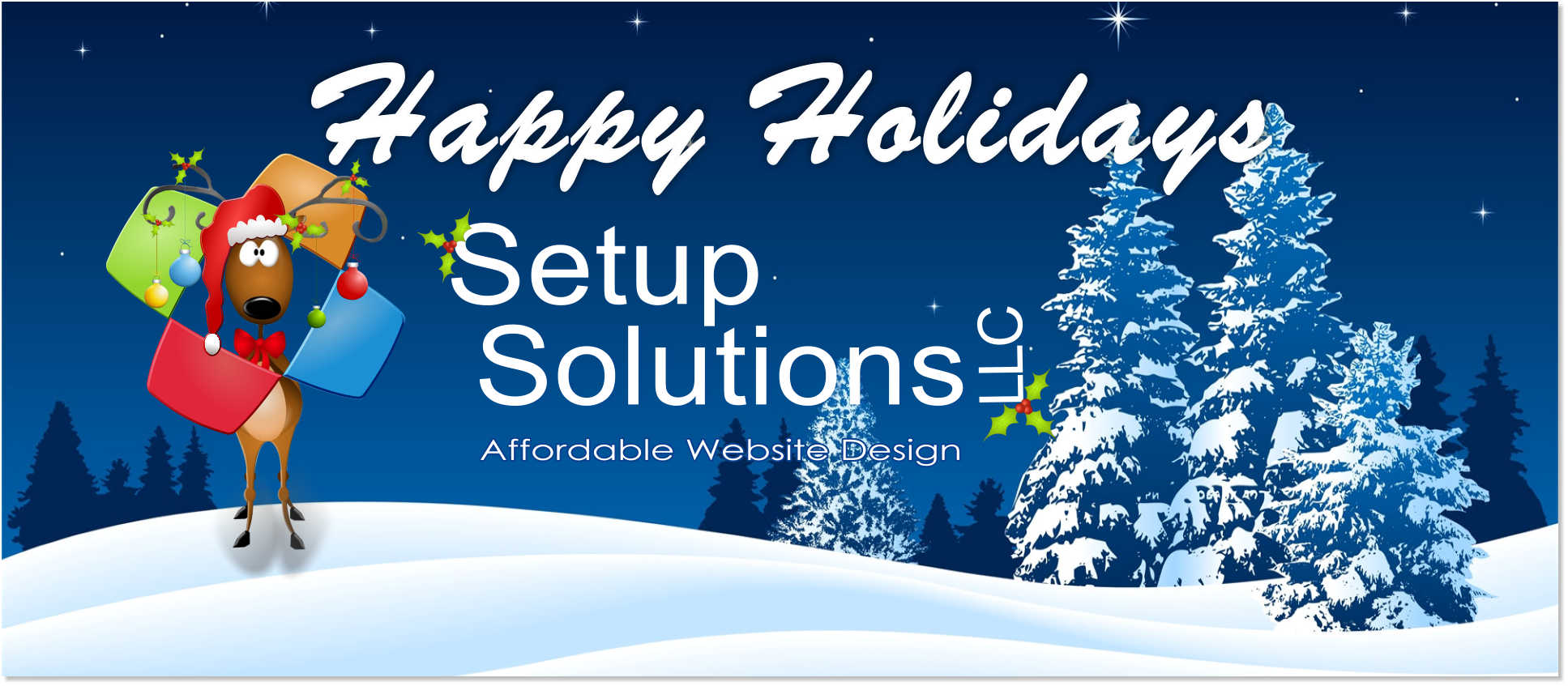 Happy Holidays from Setup Solutions LLC